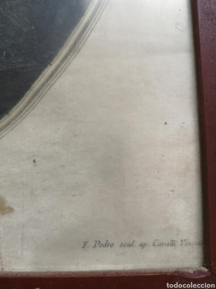 Arte: GRABADO ORIGINAL - AÑO 1888 - ANGELICA KAUFMAN - F. PEDRO SCUL. AP. CAVALLI VENETU - Mide 45x39 - Foto 4 - 180096747