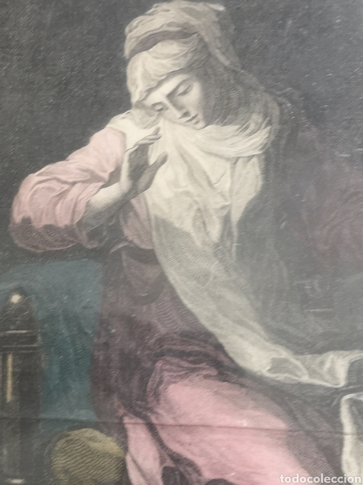 Arte: GRABADO ORIGINAL - AÑO 1888 - ANGELICA KAUFMAN - F. PEDRO SCUL. AP. CAVALLI VENETU - Mide 45x39 - Foto 5 - 180096747