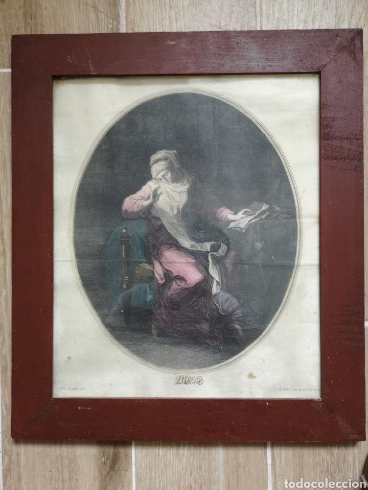GRABADO ORIGINAL - AÑO 1888 - ANGELICA KAUFMAN - F. PEDRO SCUL. AP. CAVALLI VENETU - MIDE 45X39 (Arte - Grabados - Modernos siglo XIX)