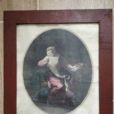 Arte: GRABADO ORIGINAL - AÑO 1888 - ANGELICA KAUFMAN - F. PEDRO SCUL. AP. CAVALLI VENETU - MIDE 45X39. Lote 180096747