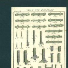 Arte: BERNARD DIREXIT. GRABADO SIGLO XVIII: SERRURERIE, ETUDES DE GRILLES. Lote 180097695