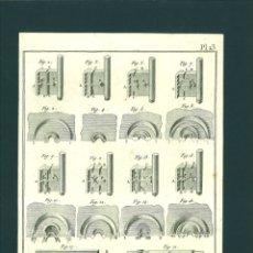 Arte: BERNARD DIREXIT. GRABADO SIGLO XVIII: SERRURERIE, CLEFS A BOUTON ET LEURS GARNITURES. Lote 180097893