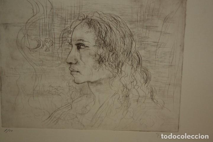 Arte: FIRMADO FERRER. GRABADO CON TIRAJE 1/20. RETRATO DE PERFIL - Foto 2 - 180098291