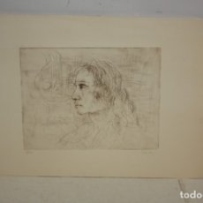 Arte: FIRMADO FERRER. GRABADO CON TIRAJE 1/20. RETRATO DE PERFIL. Lote 180098291