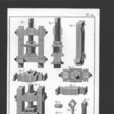 Arte: BERNARD DIREXIT. GRABADO SIGLO XVIII: GROSSE PRESSE LA FABRIQUE DES TABATIERES D'ECAILLE. Lote 180098457