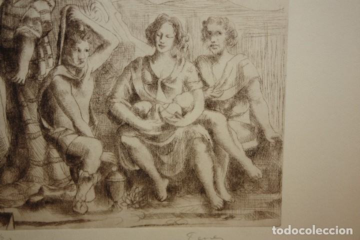 Arte: FIRMADO FERRER. GRABADO CON TIRAJE 7/20. PERSONAJES - Foto 3 - 180098588