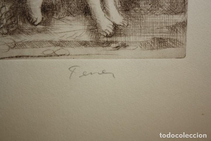 Arte: FIRMADO FERRER. GRABADO CON TIRAJE 7/20. PERSONAJES - Foto 4 - 180098588