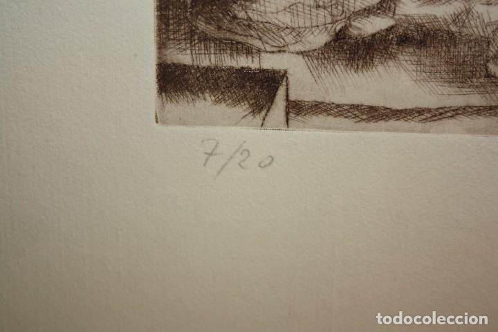 Arte: FIRMADO FERRER. GRABADO CON TIRAJE 7/20. PERSONAJES - Foto 5 - 180098588