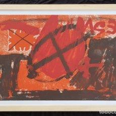 Arte: AGUATINTA Y CARBORUNDUM ANTONI TÀPIES TITULADO -CERCLE ROUGE- 1976 EDICIÓN DE 50 . GALFETTI 596. Lote 180107557