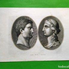 Arte: GRABADO AL AGUAFUERTE - MARCO ANTONIO Y CLEOPATRA - 24 X 15 CM. Lote 180107903