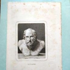 Arte: GRABADO AL AGUAFUERTE - DIOGENES 26,5 X 15 CM GASPAR Y ROIG EDITORES - MADRID. Lote 180108110
