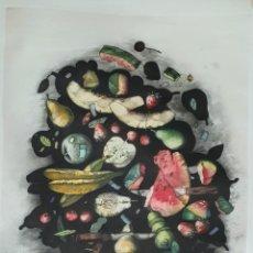Arte: ANTIGUO GRABADO EN PAPEL FIRMADO. Lote 180111193