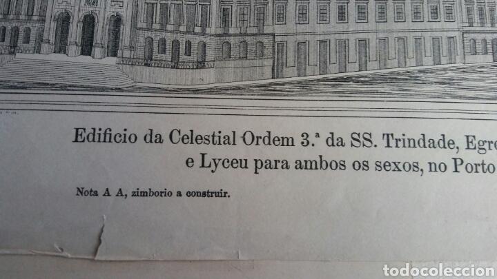 Arte: Grabado especial con cúpula que nunca se construyó - Igreja, hospital y escuela Trindade - Porto - Foto 2 - 180233885