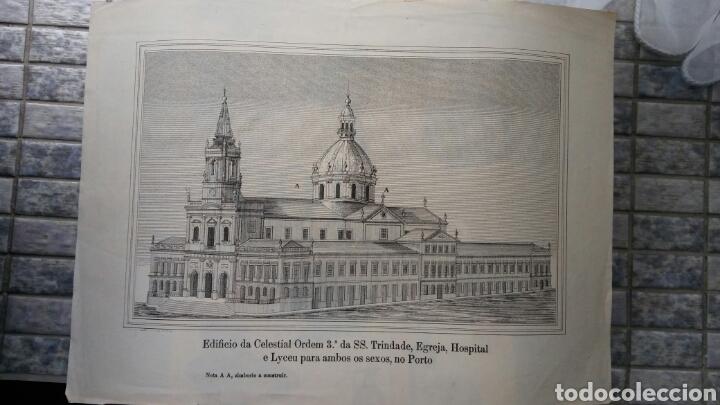 Arte: Grabado especial con cúpula que nunca se construyó - Igreja, hospital y escuela Trindade - Porto - Foto 4 - 180233885