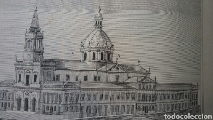 Arte: Grabado especial con cúpula que nunca se construyó - Igreja, hospital y escuela Trindade - Porto - Foto 5 - 180233885
