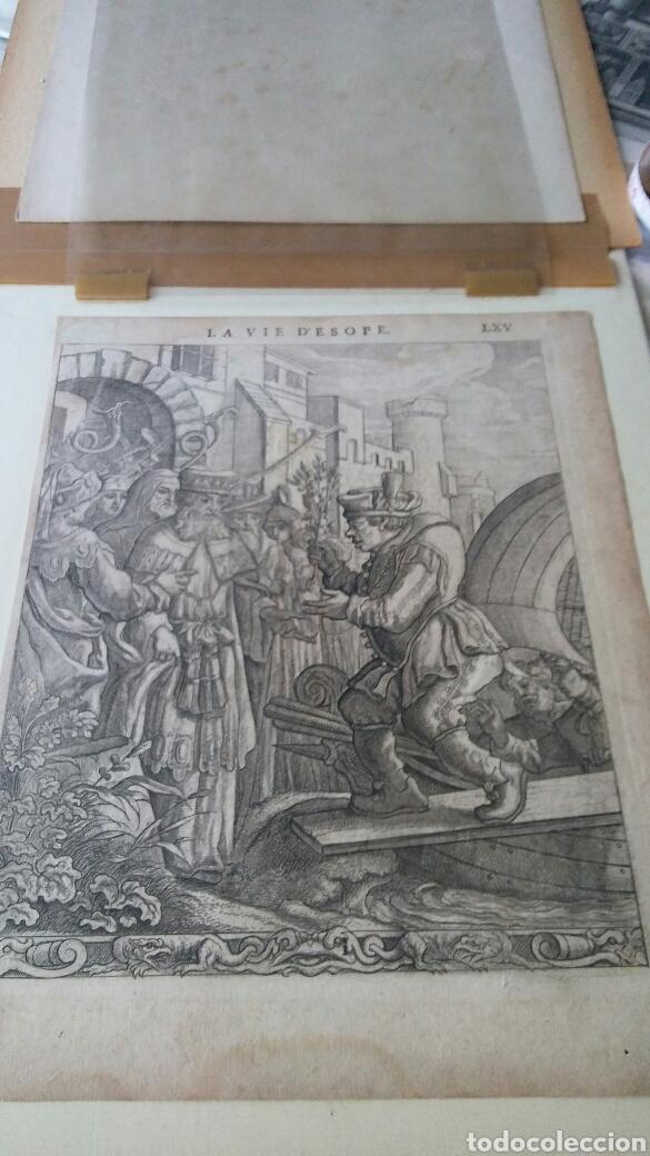 Arte: Gravado - La vida de Esopae - 1714 - Francis Barlow - Foto 6 - 180253875