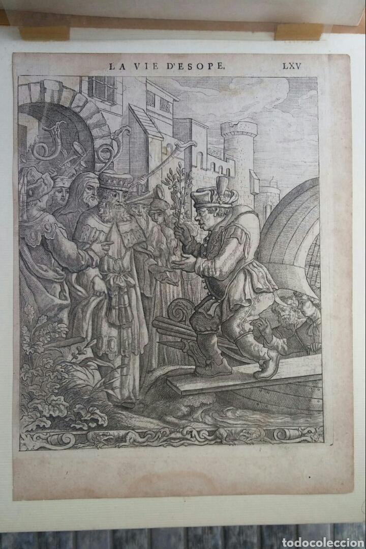 GRAVADO - LA VIDA DE ESOPAE - 1714 - FRANCIS BARLOW (Arte - Grabados - Antiguos hasta el siglo XVIII)