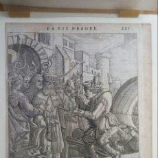 Arte: GRAVADO - LA VIDA DE ESOPAE - 1714 - FRANCIS BARLOW. Lote 180253875