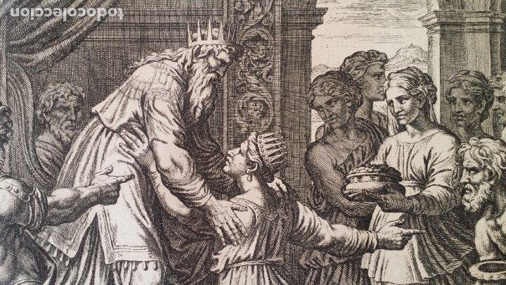 Arte: RAFAEL / CHAPERON: La reina de Saba, grabado de 1649 - Foto 6 - 180337960