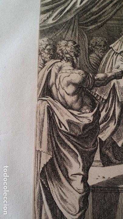 Arte: RAFAEL / CHAPERON: La reina de Saba, grabado de 1649 - Foto 5 - 180337960