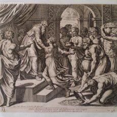 Arte: RAFAEL / CHAPERON: LA REINA DE SABA, GRABADO DE 1649. Lote 180337960