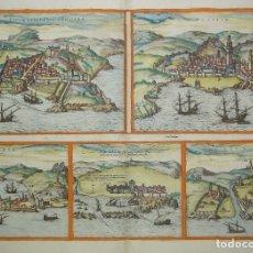 Arte: GRABADO DEL SIGLO XVI DE HOEFNAGEL DE CEUTA Y CIUDADES EN MARRUECOS.. Lote 180414630