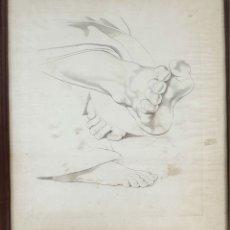 Arte: TRES PIES. GRABADO SOBRE PAPEL. SIN FIRMAR. SIGLO XIX-XX. . Lote 180435951