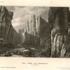 Arte: 1841 - PASO DE PANCORBO - BURGOS - COMARCA DEL VALLE DEL EBRO - XILOGRAFIA ORIGINAL DE EPOCA. Lote 180479726