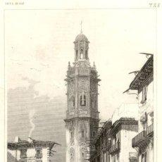 Arte: 1837 - VALENCIA TORRE DE SANTA CATALINA - EIGENTHUM DER VERLEGER - XILOGRAFIA ORIGINAL DE EPOCA. Lote 180481923
