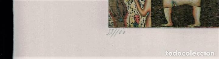 Arte: FELIX WASKE ESCENA ERÓTICA 10 GRABADO ORIGINAL FIRMADO FECHADO 78 NUMERADO LÁPIZ 33/100 ED BRUGBERG - Foto 2 - 180503476