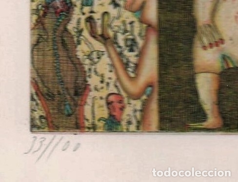 Arte: FELIX WASKE ESCENA ERÓTICA 10 GRABADO ORIGINAL FIRMADO FECHADO 78 NUMERADO LÁPIZ 33/100 ED BRUGBERG - Foto 3 - 180503476