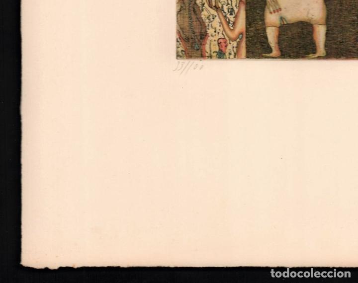 Arte: FELIX WASKE ESCENA ERÓTICA 10 GRABADO ORIGINAL FIRMADO FECHADO 78 NUMERADO LÁPIZ 33/100 ED BRUGBERG - Foto 12 - 180503476