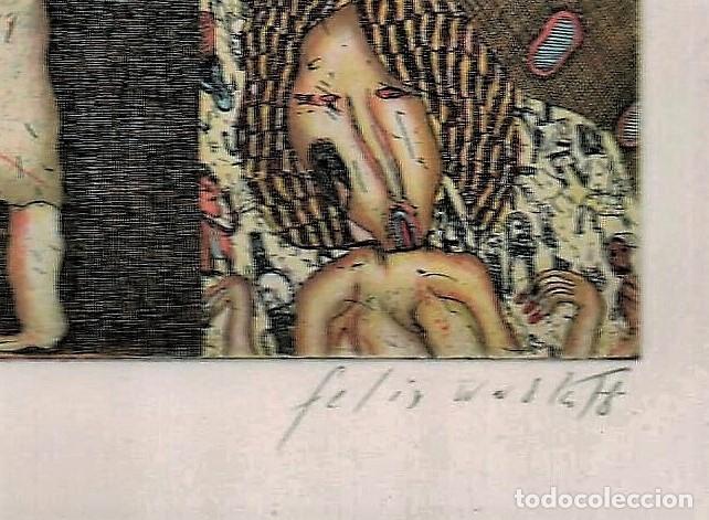 Arte: FELIX WASKE ESCENA ERÓTICA 10 GRABADO ORIGINAL FIRMADO FECHADO 78 NUMERADO LÁPIZ 33/100 ED BRUGBERG - Foto 17 - 180503476