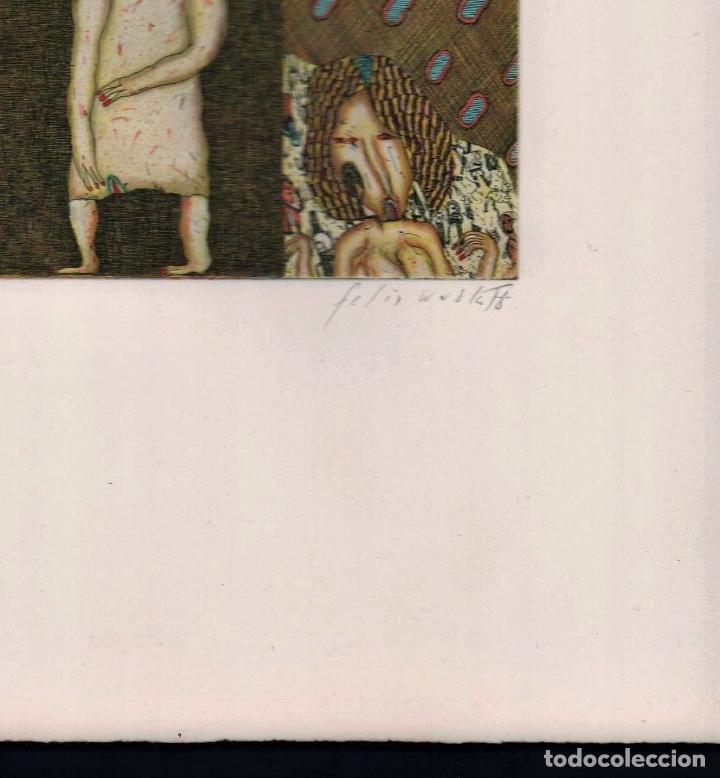 Arte: FELIX WASKE ESCENA ERÓTICA 10 GRABADO ORIGINAL FIRMADO FECHADO 78 NUMERADO LÁPIZ 33/100 ED BRUGBERG - Foto 18 - 180503476