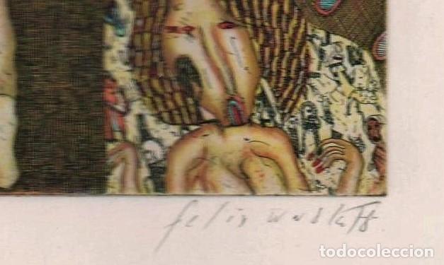 Arte: FELIX WASKE ESCENA ERÓTICA 10 GRABADO ORIGINAL FIRMADO FECHADO 78 NUMERADO LÁPIZ 33/100 ED BRUGBERG - Foto 24 - 180503476