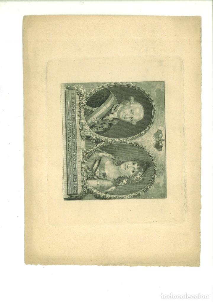 CARLOS IIII Y MARÍA LUISA SU ESPOSA REYES DE ESPAÑA. JUAN BAUZIL (PINTOR DE CÁMARA) (Arte - Grabados - Contemporáneos siglo XX)