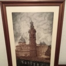 Arte: JUAN VIRUELA GRABADO TEMA VALL D UIXO IGLESIA. Lote 181140445