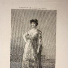 Arte: GRABADO LA TIRANA (ROSARIO FERNANDEZ). GOYA. ACADEMIA DE NOBLES ARTES DE S. FERNANDO. S. XIX. Lote 181353848