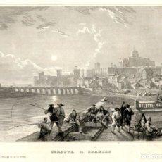 Arte: 1850 CORDOBA. CATEDRAL PUENTE - GRABADO ALEMAN SOBRE COBRE ORIGINAL DE EPOCA. Lote 181358396