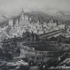 Arte: ANTIGUO GRABADO INGLES S. XIX: SEGOVIA - DAVID ROBERTS JAMES B. ALLEN. Lote 181404971