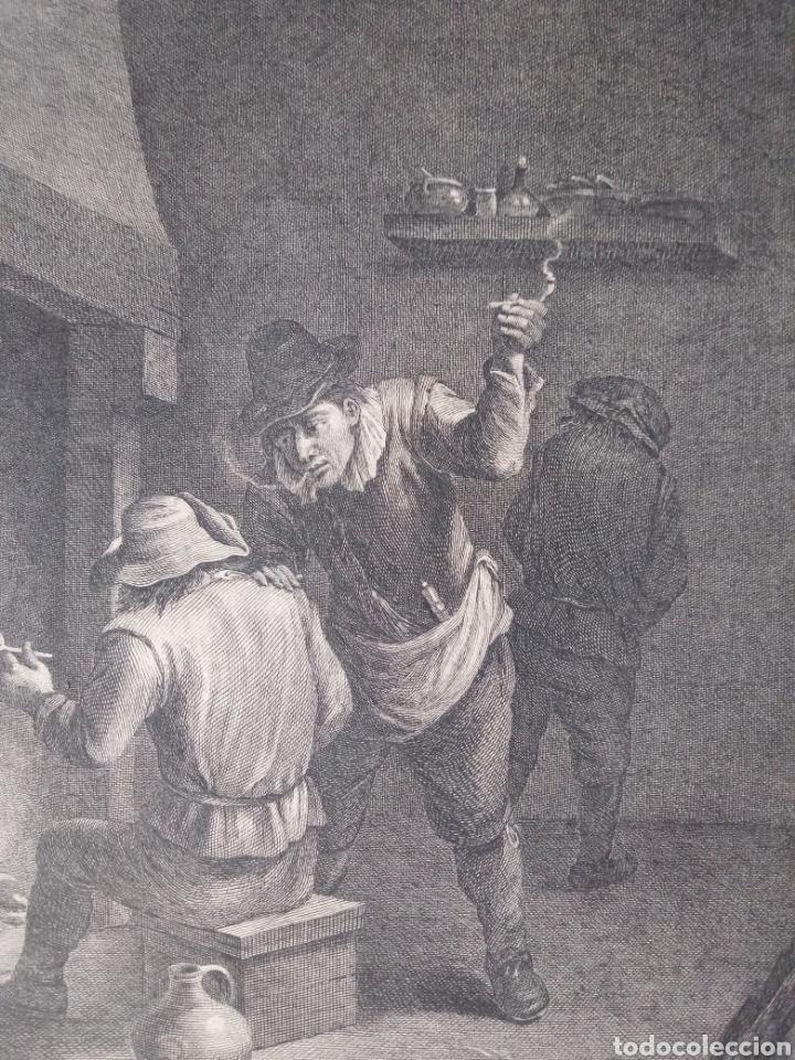 Arte: Antiguo grabado al aguafuerte. SXVIII (Adherido a un cartón) - Foto 3 - 181480952