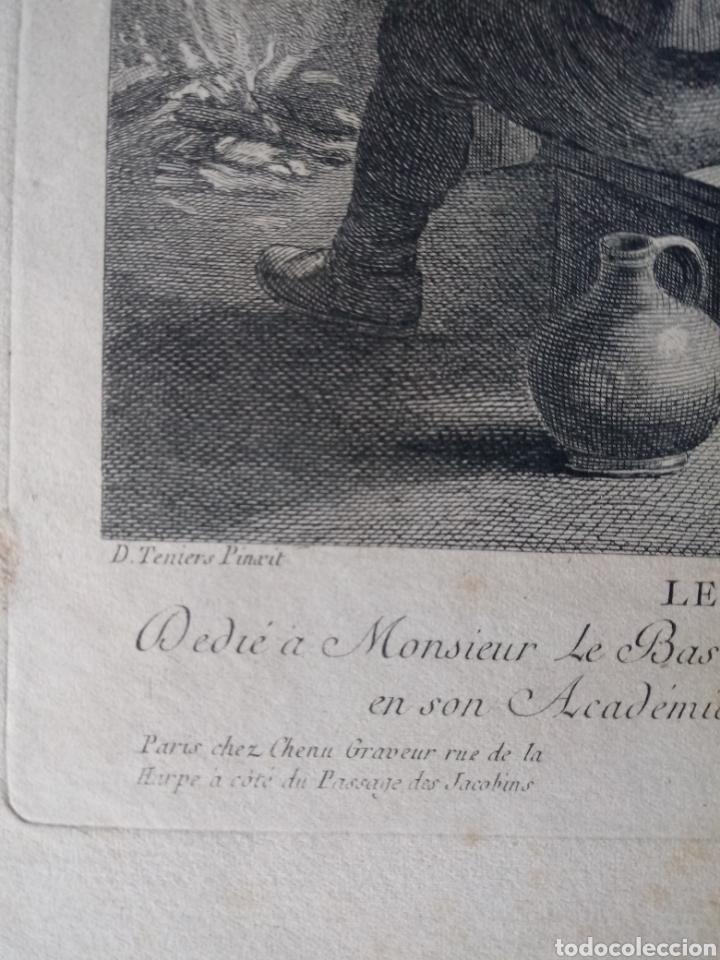 Arte: Antiguo grabado al aguafuerte. SXVIII (Adherido a un cartón) - Foto 5 - 181480952