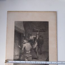 Arte: ANTIGUO GRABADO AL AGUAFUERTE. SXVIII (ADHERIDO A UN CARTÓN). Lote 181480952
