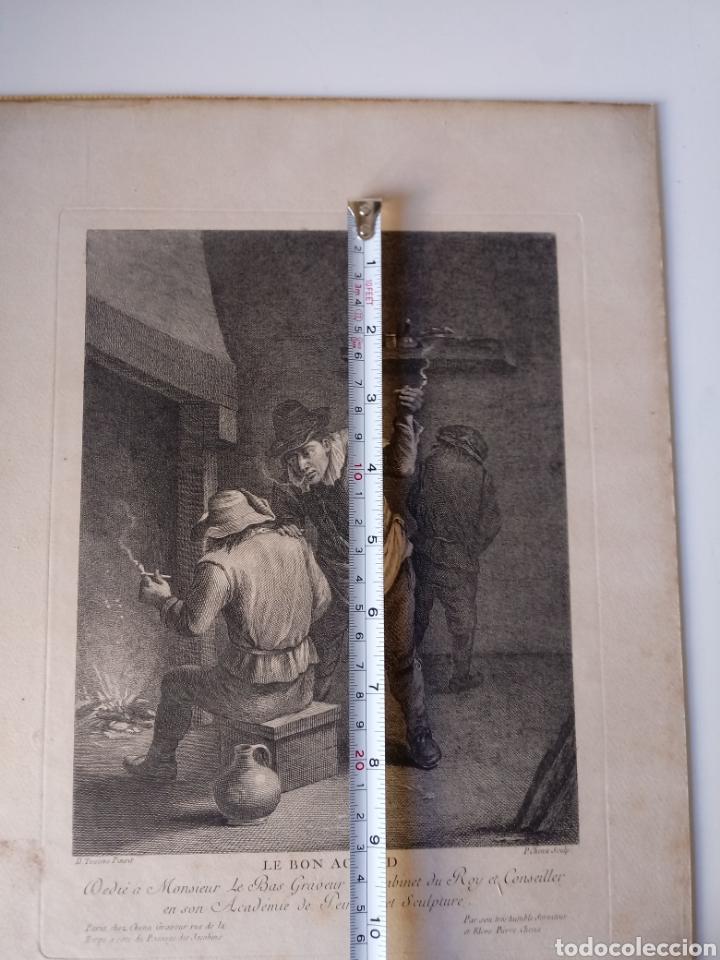 Arte: Antiguo grabado al aguafuerte. SXVIII (Adherido a un cartón) - Foto 8 - 181480952