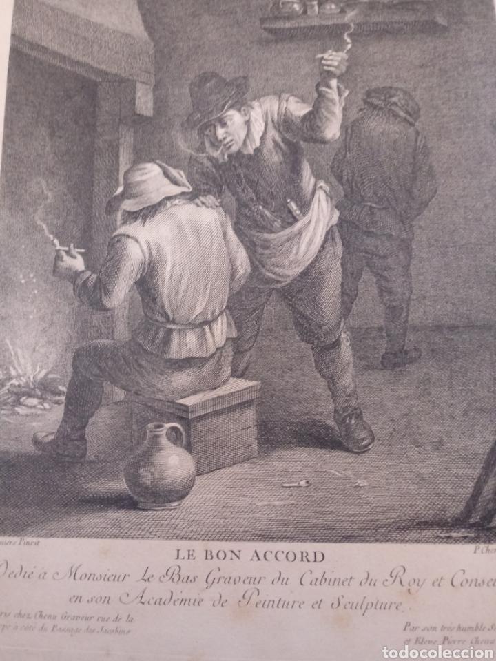 Arte: Antiguo grabado al aguafuerte. SXVIII (Adherido a un cartón) - Foto 10 - 181480952