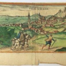 Arte: DEPINGEBAT GEORGIUS HOEFNAGLE - GRABADO S. XVI - VELEZ (VELIS) MALAGA 53X20,5CM. Lote 181553870