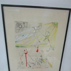 Arte: SALVADOR DALI (1904-1989) - L´ALCHIMIE - GRABADO CON PUNTA SECA - FIRMA A LÁPIZ - AÑO 1975. Lote 181770390