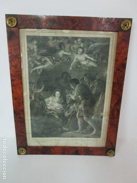 Arte: Grabado La Adoración de los Pastores - Rafael Mengs - Morghen Raffaello Grabador - Año 1791 - Foto 2 - 181774640