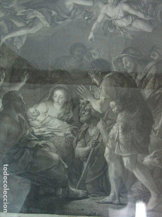 Arte: Grabado La Adoración de los Pastores - Rafael Mengs - Morghen Raffaello Grabador - Año 1791 - Foto 4 - 181774640