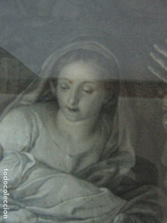 Arte: Grabado La Adoración de los Pastores - Rafael Mengs - Morghen Raffaello Grabador - Año 1791 - Foto 5 - 181774640